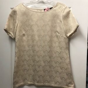 Gold blouse from The Limited